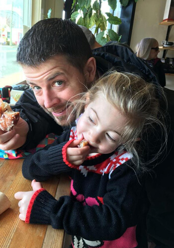 Bryce with his daughter, Athena